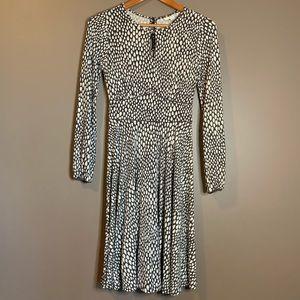 Boden long sleeve patterned dress